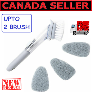 New-Dishwand-Soap-Dispensing-Brush-Pot-and-Pan-Cleaning-Brush-Sponge-Head-CA