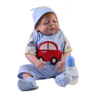 bf4f8b2808dd 5pcs Rompers Pants Socks Bib for 22-23inch Reborn Baby Boy Girl Doll ...