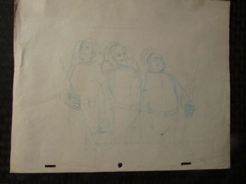 1960's SUBMARINER TV Animation Cartoon Production Art Sc11 3 Divers