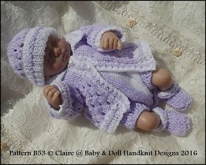 3bc8706e4 BABYDOLL HANDKNIT DESIGNS KNITTING PATTERN ROMPER   JACKET SET B53 8 ...
