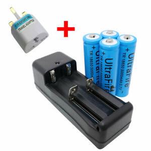 4X-Battery-18650-3-7V-5000mAh-Li-ion-Rechargeable-with-4-2V-Charger-UK-Adaptor
