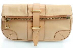 bc2dda91af4 Image is loading Belstaff-Dorchester-Clutch-Bag-Warm-Beige-Size-Medium-