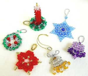 image is loading beaded christmas ornament patterns classic holiday designs set