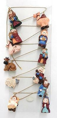 3ft Nativity Garland 12 Figurines Jesus Mary Joseph Christmas Decorations 8161