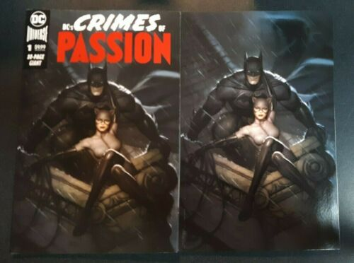 DC CRIMES OF PASSION #1 Ryan Brown Trade Dress Virgin Variant Set NM Rare