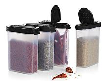 Tupperware 4-pc Modular Mates Spice Shakers Set Black LARGE 1 Cup