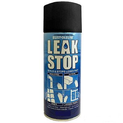 Rust-Oleum Leak Stop Spray Plumbing Pipe Fix Repair Watertight Seal Black 400ml