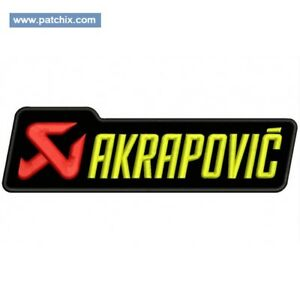 Gestickte Patch Embroidered Patch Iron Patch Parche Bordado Akrapovic