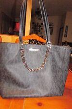 Michael Kors Handbag Black on Black Silver Chains