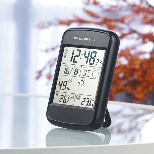 Weckalarm /& Wetterprognose PEARL Digitale Wetterstation FWS-90 mit Funkuhr