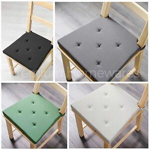 2-x-IKEA-JUSTINA-Foam-Seat-Cushion-Pads-for-Chairs-Natural-Black-Green-Grey