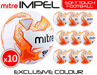 10 x MITRE IMPEL TRAINING FOOTBALLS - WHITE/ORANGE  SIZES 3, 4 & 5