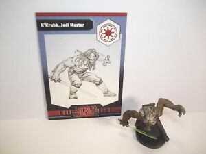 Star-Wars-Miniatures-K-039-Kruhk-Jedi-Master-7-40-Card-Very-Rare-Dark-Times