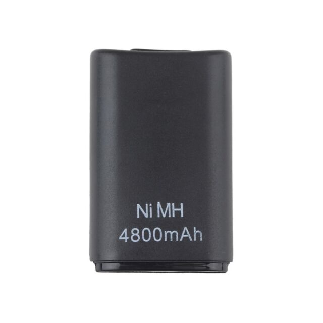 4800mAH Rechargeable Battery Pack for Xbox 360 Wireless Controller Black Dual KI