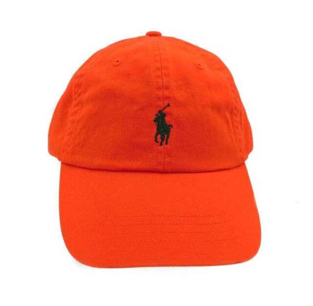34f85ca9 New Polo Ralph Lauren Chino Orange Adjustable Sport Baseball Cap One Size