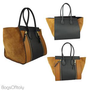 ... Image is loading Giglio-Large-Weekender-Shopper-Shoulder-Handbag-Black  ... 4aa80667fdb5b