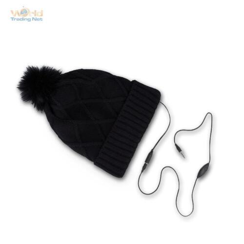 Hiver casquette avec NCCD casque Casquette smart cap avec la musique noir avec pompon