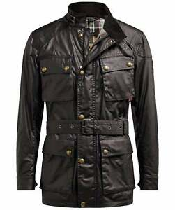 Belstaff-Men-039-s-Waxed-Cotton-Trialmaster-Jacket