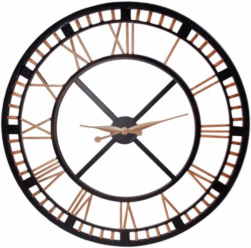 extra large wall clocklarge iron wall clock with roman numbers open face design