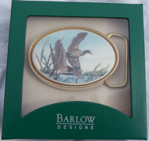Belt Buckle Barlow Photo Reproduction in Color Mallards Traditional 590120c NEW