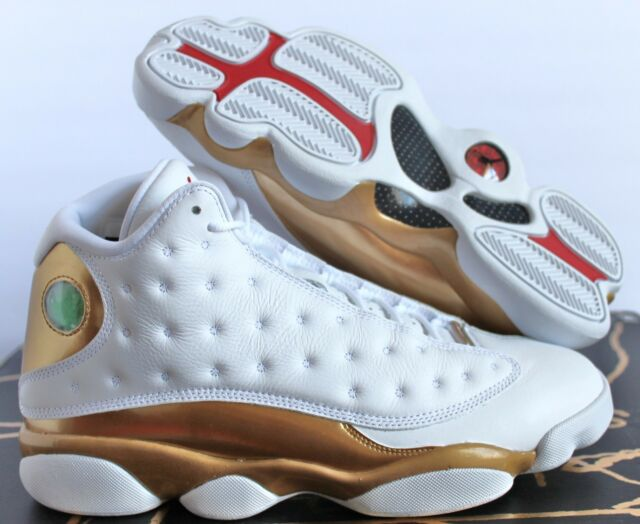 detailed look c382d 2e7b5 Nike Air Jordan 13 Defining Moment Package DMP White-gold Sz 8 414571-135