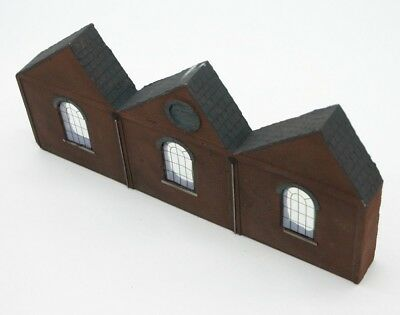 Detailed Model Railway Low Relief Factory For Ho / Oo 007 Limpid In Sight