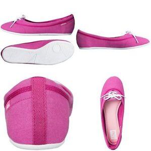 effa1c4272a New Womens Adidas Neolina Pink Glitter Canvas Ballerina Pumps Shoe ...