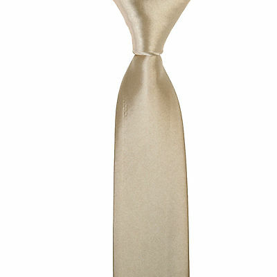 Work Tie Copper Gold Men/'s Boys Slim Skinny Shiny Satin Wedding