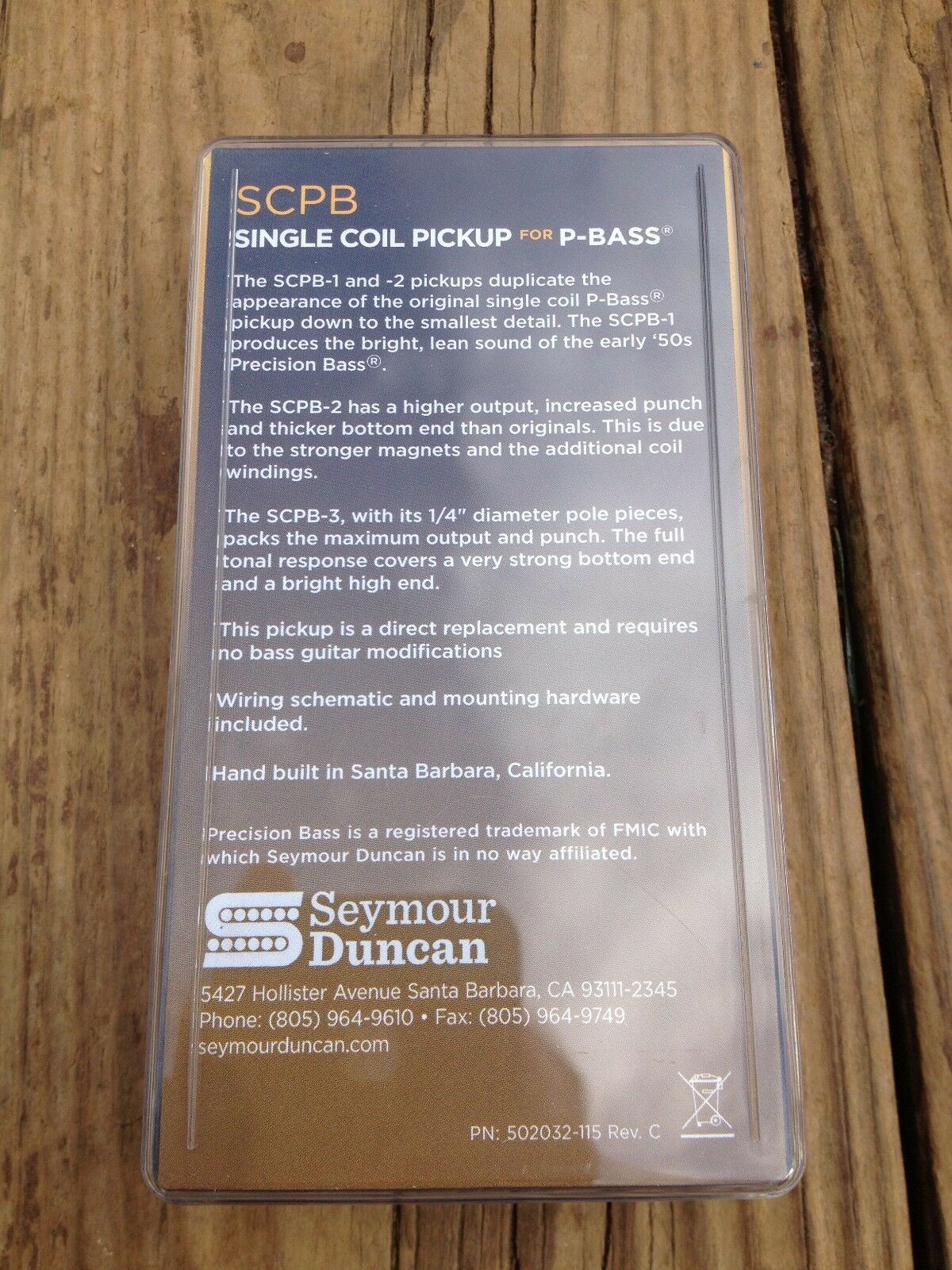 Basslines Scpb 3 Quarter Pound Single Coil P Bass Pickup Ebay Seymour Duncan Mm Wiring Diagrams Norton Secured Powered By Verisign