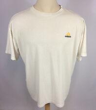 Rare Vintage White Terry Cloth Knit Adidas USA 90's Grunge Surf Soccer T Shirt