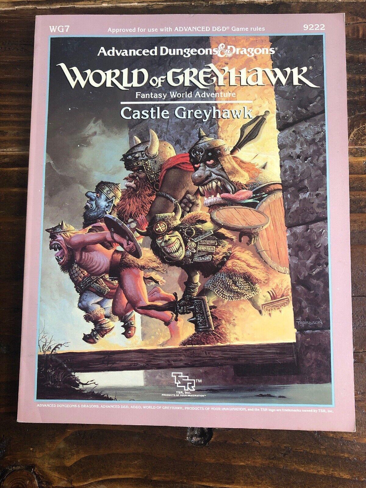 ADVANCED D&D -World of Greyhawk- MODULE WG7 CASTLE GREYHAWK - Vintage TSR 9222