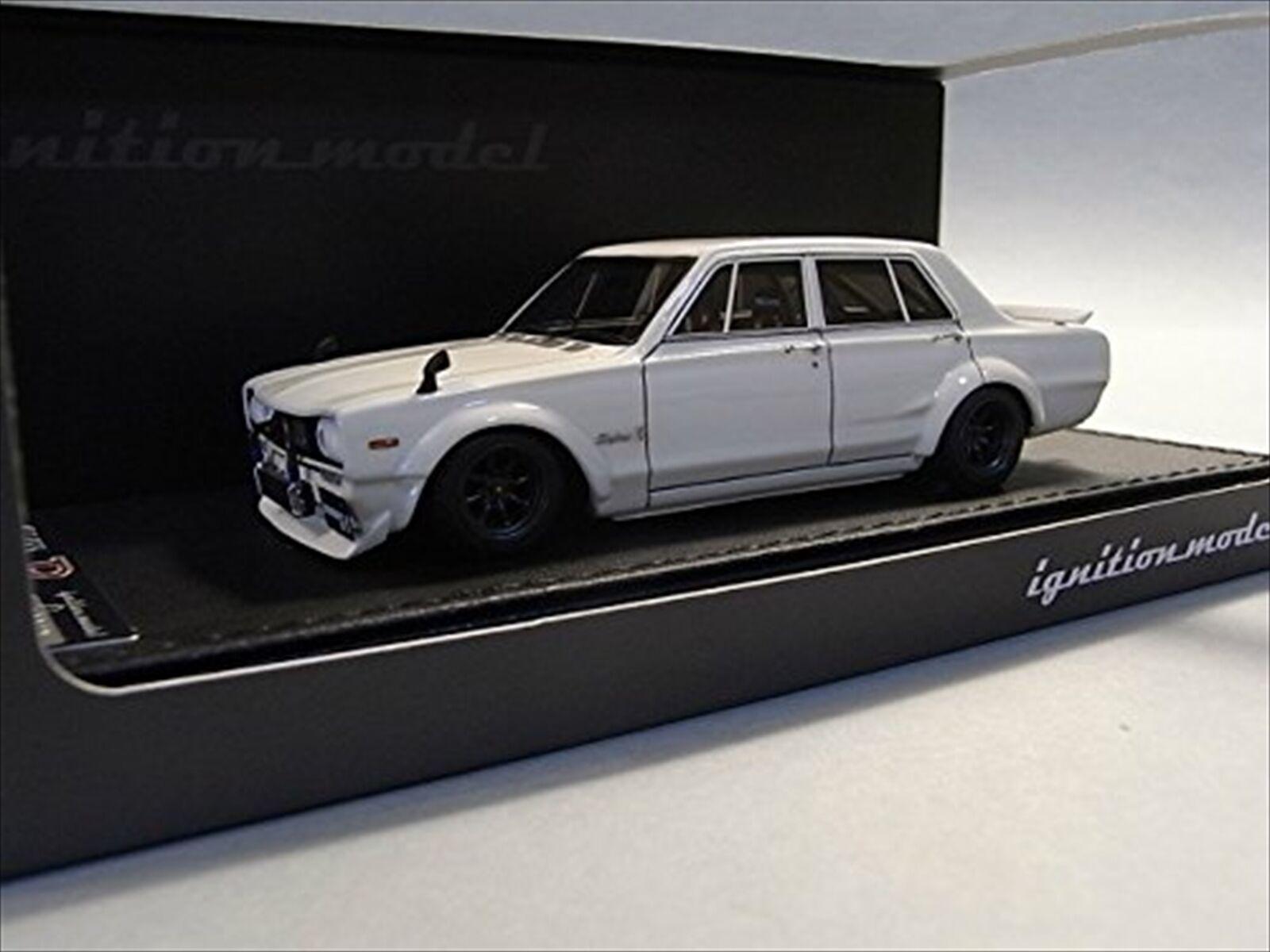100% nuovo di zecca con qualità originale Ignition Ignition Ignition modellolo 1 43 Nissan cieloline 2000 GT-R (PGC10) bianca Resin modello IG0178  punto vendita