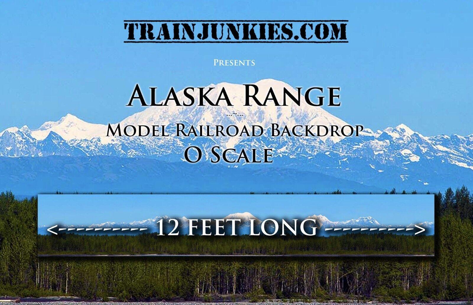 TrainJunkies O Scale Alaska Range modellolo Railstrada Backdrop 24x144