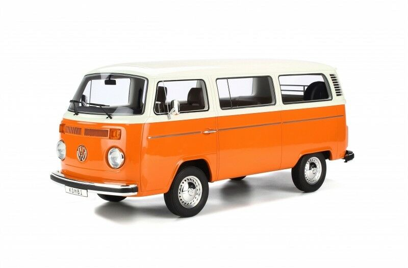 VW Volkswagen t2b t2 B fensterbus Orange  blanc 1972 sg026 Resin Otto nouveau 1 12  70% de réduction