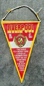 Rar-Wimpel-Liverpool-F-C-F-A-Cup-Winner-1965-Pennant-Football-Fussball-FIFA