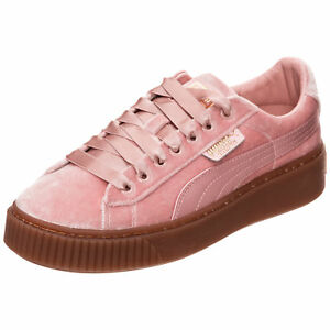 puma basket platform damen rosa