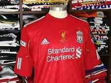LIVERPOOL FC home 2010/12 shirt - SUAREZ #7-Ajax-Uruguay-Barcelona-Adidas-Jersey