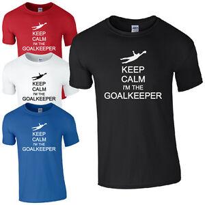 Gardez-votre-calme-je-suis-le-gardien-de-but-T-shirt-Drole-de-football-Unisexe-Kids-amp-Top-pour
