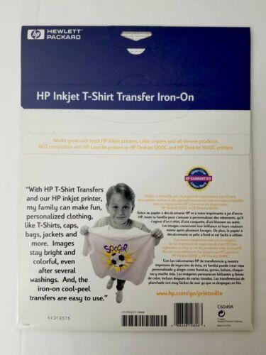 Brand New HP Hewlett Packard Inkjet T-Shirt Transfer Iron-On 10 Transfer Sheets