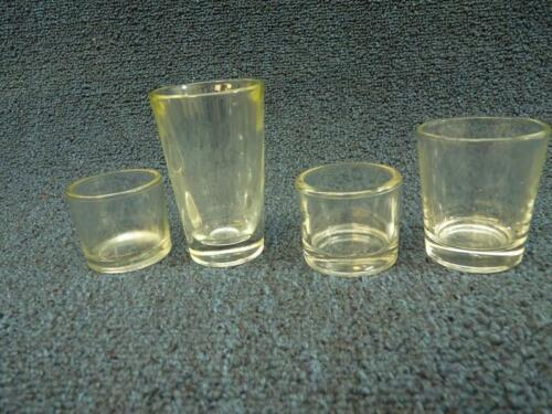 Lot of 4 Different Plain Vintage Shot Glass Glasses (gs460)