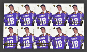 (10) 1998 Collectors Edge Peyton Manning Colts Promo RC Rookie Card Lot