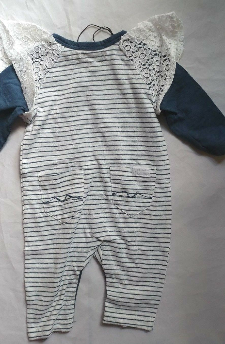 7 For All Mankind Designer Baby Boys Red White Blue Footie One Piece NEW Tags