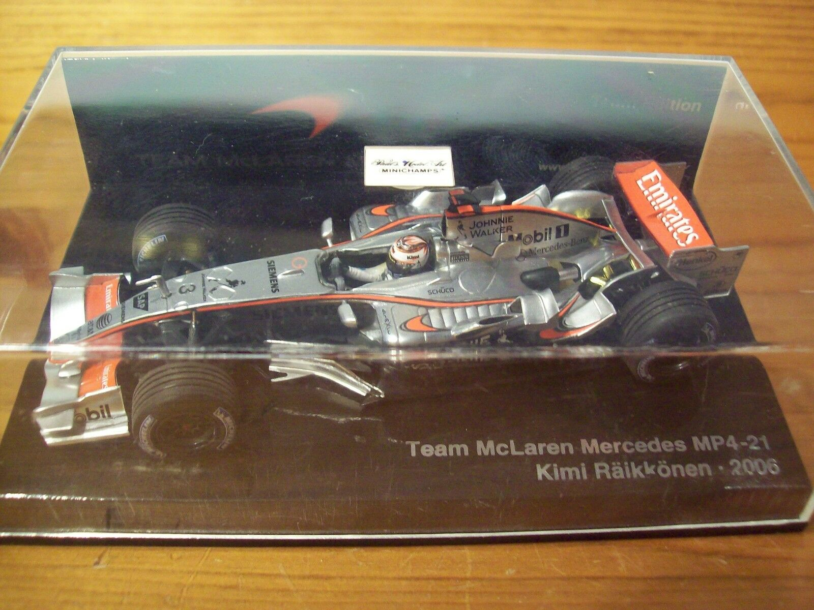 1 43 McLAREN 2006 MP4 21 MERCEDES KIMI RAIKKONEN TEAM EDITION