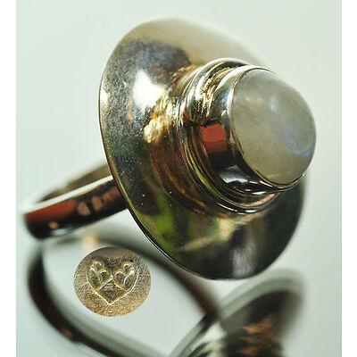 VINTAGE Ring - Mondstein - Silber - Damen Schmuck - Gr. 53