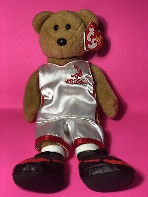 Ty Beanie Baby ~ SHAQBEAR the SHAQ Shaquille O/'Neal Bear ~ MINT with MINT TAGS