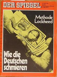 SPIEGEL 19/1976 Die Lockheed-Schmiergeldaffäre - München, Deutschland - SPIEGEL 19/1976 Die Lockheed-Schmiergeldaffäre - München, Deutschland