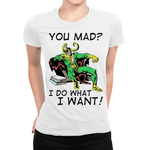 Loki /'You Mad Men/'s Women/'s All Sizes I Do What I Want/' Funny T-Shirt