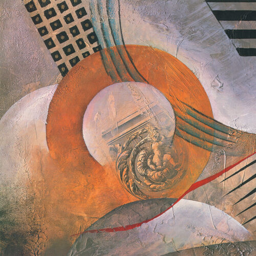 """MODERN COLLAGE ROMAN CANVAS 50W/""""x34H/"""" STRAIGHT UP by MARLENE HEALY"""