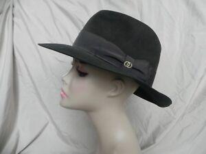 Rare Vintage Gucci Men s Unisex Olive Green Felt Fedora Hat  b03f1d20ff5c