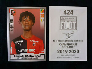 Eduardo-camavinga-rookie-424-sticker-panini-foot-2019-20-rennes-france-team